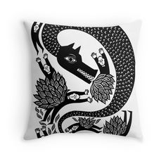 'And the dragon' by baggelboy Black And White Pillows, Canvas Prints, Art Prints, Classic T Shirts, Dragon, Throw Pillows, Congratulations Card, Finger Foods, Canvases