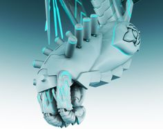 mech mandala for 3D printing