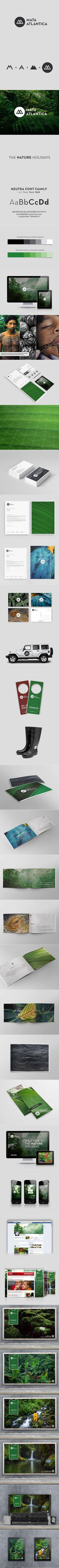 Did you see those vibrant business cards? We love Mata Atlântica's entire branding look! #branding #logo: