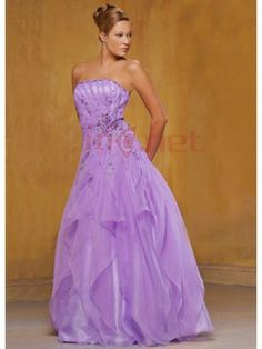 $223.11Purple Ball Gown Sweetheart Empire Organza Evening #Dress #With #Sequins