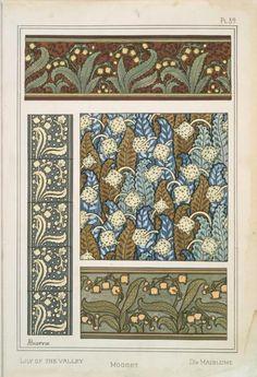 size: Art Print: Nouveau Floral Design IV by Vision Studio : Eugene Grasset, Graphic Art Prints, Design Fields, Art Nouveau Design, Stained Glass Designs, Animal Decor, Simple Elegance, Vintage Art, Creative Design