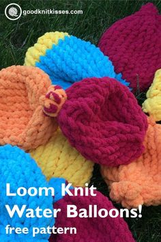 DIY Water Balloons 2019 Kids love these soft squishy water balloons. The best part They can learn to make them too!goodknitkisse The post DIY Water Balloons 2019 appeared first on Knit Diy. Loom Knitting Projects, Loom Knitting Patterns, Knitting For Kids, Knitting For Beginners, Knitting Ideas, Crochet Patterns, Yarn Crafts, Sewing Crafts, Diy Crafts