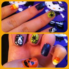 Halloween nail art was so fun to do bc the possibilities are endless!