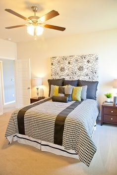 Try A Patterned Headboard With A Different Patterned Bedspread. The Neutral Colors  Make The Pattern Great Pictures