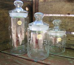 Vintage Kitchen Canisters Princess House Crystal Canister