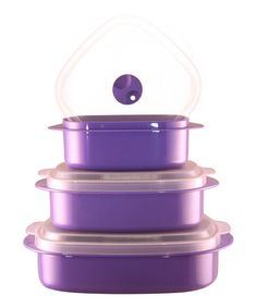 Take a look at this Purple Microwavable Cookware & Storage Set by Reston Lloyd on #zulily today!