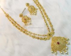 Necklaces / Harams - Gold Jewellery Necklaces / Harams (DJPMJ00018) at USD 6,878.88 And EURO 6,118.12