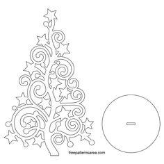 Laser Cut Christmas Tree Ornament Pattern Source by natzea Christmas Tree Stencil, Christmas Tree Silhouette, Christmas Tree Template, Christmas Wood Crafts, Xmas Tree, Christmas Tree Ornaments, Christmas Tree Pattern, Diy Ornaments, Beaded Ornaments