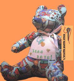 Cartamodello Orso di stoffa, cartamodello Orsetto di tessuto, gratis online