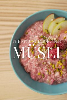 Sprüngli inspired Bircher Muesli - almost tastes like the original, except you probably won't be able to eat this version looking out onto the Paradeplatz in Zurich. Get the recipe here: http://cupofmay.com/2016/01/19/current-obsession-bircher-muesli/