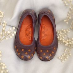 My Sugarcoat Jelly Shoes Fun shoes! Purple with orange polka dots on a jelly shoe with knit interior.  My Sugarcoat  Shoes Flats & Loafers