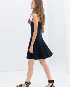ZARA - NEW COLLECTION - STRAPPY DRESS WITH FLOUNCE SKIRT