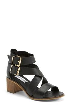 Steve Madden 'Rosana' Double Ankle Strap Leather Sandal (Women) | Nordstrom The shoe I ve been looking for