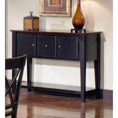 Progressive Furniture P809-56 Cosmo Transitional Large Server in Cherry/Black