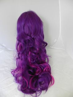 HALLOWEEN SALE // Purple and Neon Violet / Long Curly by ExandOh