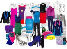 """Bright Winter Office"" by spicemarket on Polyvore"