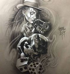 Risultati immagini per chicano tattoo style Art Chicano, Chicano Art Tattoos, Chicano Drawings, Gangster Tattoos, Skull Tattoos, Body Art Tattoos, Tattoo Drawings, Sleeve Tattoos, Lowrider Tattoo