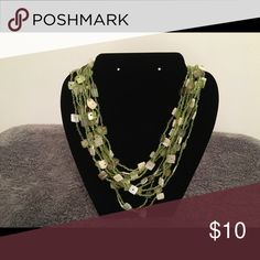 "Green Multi Strand Necklace Size 10.5"" in length Jewelry Necklaces"