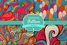 """Check out Vector Set """"Waves pattern set 3"""" by Markovka on Creative Market"""