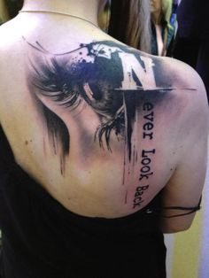 Never Look Back Tattoo - Eye Tattoo - Tattoo by Florian Karg The details are amazing