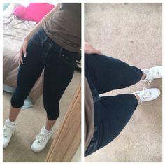 denim Capri length dark blue jeans denim Capri length dark blue jeans Jeans Ankle & Cropped