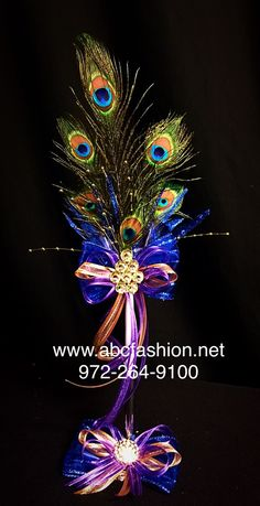 d561f847c2f Peacock feather pen set included in our Quinceanera package.  quincepackage   abcfashion.net