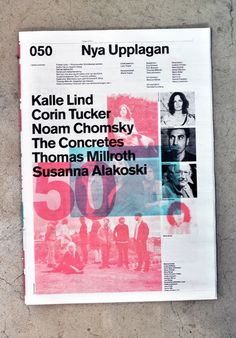 New Edition editorial design by BachGarde, a Swedish design firm.