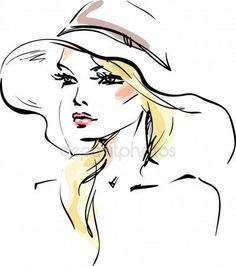 Młoda kobieta w kapeluszu