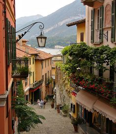 Bellagio on Lake Como in Italy... A magical place to visit. I wish I was there now.