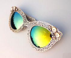 Handmade Vintage Hollow Women Sunglasses for Unisex Fashion Womens Mens Sunglasses on Etsy, $29.00