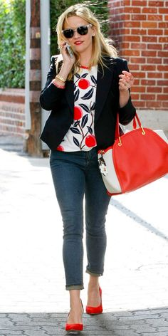 The 23 Best Celebrity Street Style Looks of 2015 - Reese Witherspoon - from InStyle.com