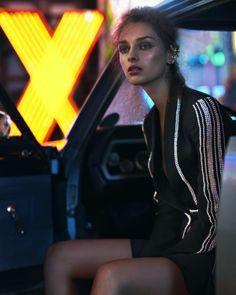 night moves: daga ziober by emma tempest for miss vogue australia Robert Doisneau, Photoshoot Inspiration, Mode Inspiration, Neon City, Fashion Shoot, Editorial Fashion, Poses, Editorial Photography, Fashion Photography