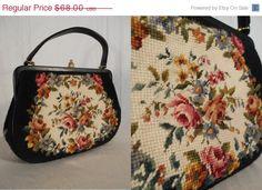 YEAR END SALE 1950s Handbag S// 1950s door RockabillyRavenVtg