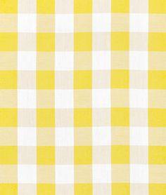 """1"""" Yellow Gingham Fabric"""