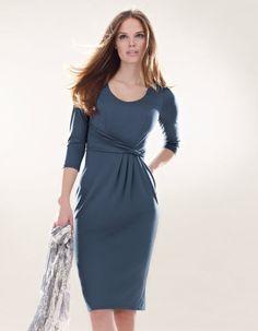 Twist Waist Dress Pepperberry. LOVE this color. Such a graceful design.