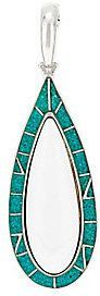 American West As Is Turquoise Inlay & White Agate Enhancer