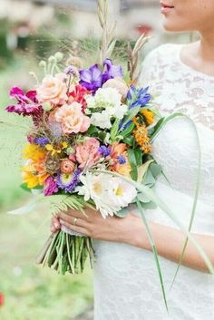 Hand Tied Wedding Bouquet #weddingflowers