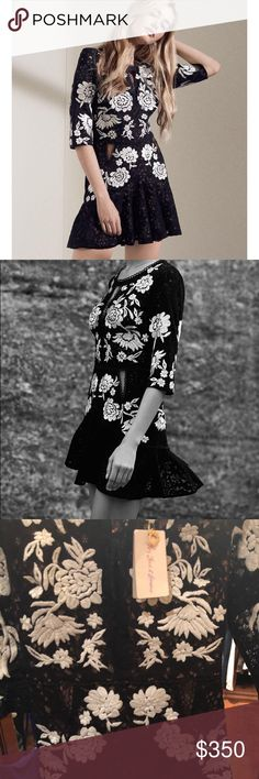 For Love and Lemons Dress SIZE SMALL For Love and Lemons NWT Dress. Beautiful black dress with white embroidery. Definitely will look stunning for any event! Ask any questions if you'd like. For Love And Lemons Dresses Mini