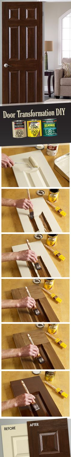 Are your doors always open to DIY projects? Try out this door transformation project! Transformation Project, Winter Project, Woodworking Crafts, Good To Know, Home Projects, Cleaning Hacks, Beautiful Homes, Home Improvement, Interior Decorating