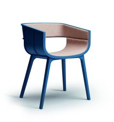 Maritime S Chair - Materials: Solid oak structure, Oak plywood shell upholstered with Florida leather - by Benjamin Hubert 2012