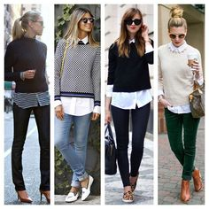 Tem coisa mais charmosa que uma golinha por cima da malha?? A sobreposição é uma das mil e uma possibilidades da amada camisa - elegante no look de trabalho, super cool no fim de semana! #advoguettes #fashionideas #executivas #modanotrabalho #lookdetrabalho