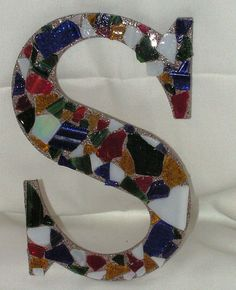 Mosaic glass letters