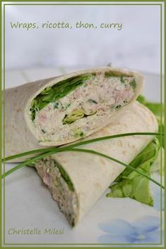 Thin slices of veal, tomato salad- Wraps, ricotta, tuna, curry - Ricotta, Snack Recipes, Cooking Recipes, Healthy Recipes, Dinner Recipes, Curry, Avocado, Wrap Sandwiches, I Love Food