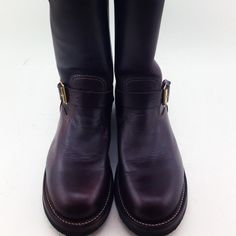 Not a cowboy boot roper heel (straight block heel) for stability on the ground. Men Boots, Shoe Boots, Shoes, Engineer Boots, Fashion Boots, Block Heels, Cowboy Boots, Style, Boots