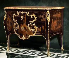 Louis XV gilt bronze mounted Chinese lacquer commode - Jacques Dubois - Commodes