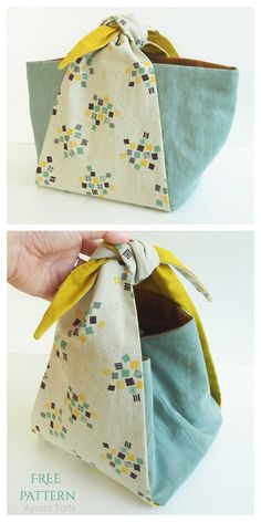 DIY Tied Handle Handbag Free Sewing Patterns | Fabric Art DIY