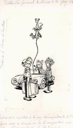 Les pirates du silence par André Franquin - Illustration