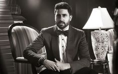 Download wallpapers Abhishek Bachchan, 4k, indian actor, guys, monochrome, Bollywood, celebrity