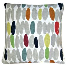 """Cushion Cover Made with Wallace Multi Laura Ashley Fabric 16"""" Modern Scatter"""