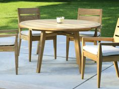 Kingsley Bate Algarve Teak Dining Table Carver Chairs I Contemporary Lines Lawn Furniture